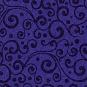 Patterned Ultrasuede - Vines - Zodiac