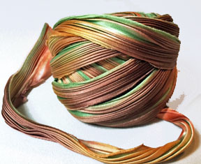 Shibori Silk Ribbon - Fall Borealis