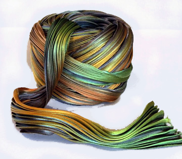 Shibori Silk Ribbon - Forest Fantasy