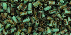 size 1 Bugle Bead - Green Turquoise Hybrid Picasso