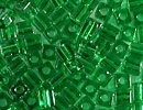 3mm Cube - Green Transparent