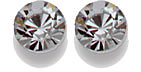 SWAROVSKI ELEMENTS Bicone - 4mm Shadow Crystal